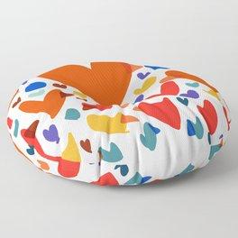 Illustration Minimal painting pattern Birds and Hearts Floor Pillow