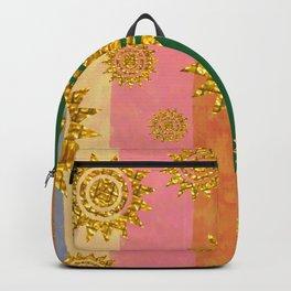 golden sunset stripes Backpack