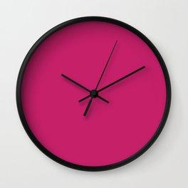 Pink Peacock Pattern Wall Clock