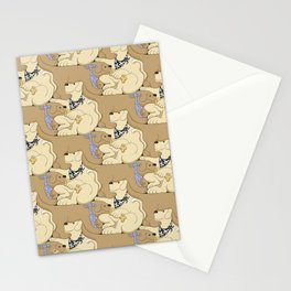 Mmmm Cookies, a dog tessellation Stationery Cards