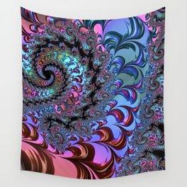 Metallic Fractal Wall Tapestry