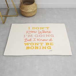 Bowie Quote - Neutral Palette Rug