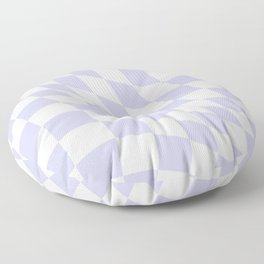Warped Check - Periwinkle  Floor Pillow