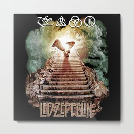 Red Zeppelin - Stairway to Heaven Metal Print