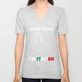I'm Italian I'm crying Not Gift Unisex V-Neck
