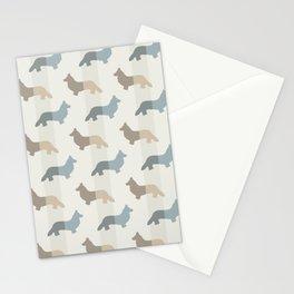 Welsh Corgi Pattern - Natural Colors Stationery Cards