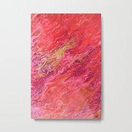 Shades of pink - Flamingo Flames - Acrylic pour artwork Metal Print