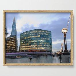 London Riverbank Serving Tray