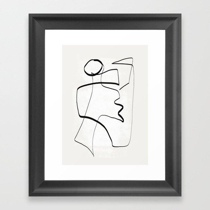 Abstract line art 6 Framed Art Print