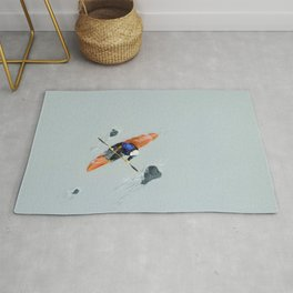 Solitude- Kayaker Rug