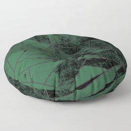 Green and Silver Geometric House Colours Floor Pillow