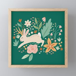Jackalope in Spring Framed Mini Art Print