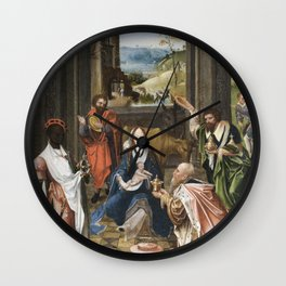 He was chubby and plump a right jolly old elf by Jessie Wilcox Smith (1863-1935) Wall Clock