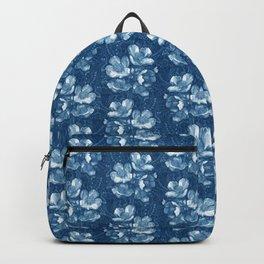Jasmine Bloom, Vintage Flowers, Floral Pattern, Indigo Backpack
