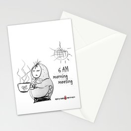 SKETCHY MORNING Stationery Cards