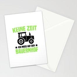 Keine Zeit Ich Muss Auf Den Bauernhof T Shirt Bauer TShirt Traktor Shirt Spruch Geschenk Stationery Cards