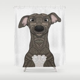 Brindle Iggy Shower Curtain