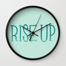 Rise Up Wall Clock