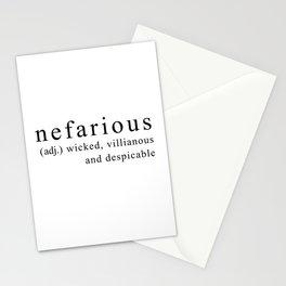 NEFARIOUS Stationery Cards