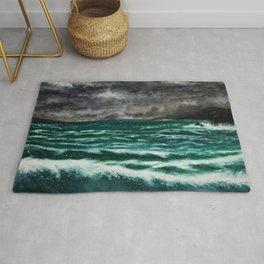 Rolling Waves Seascape Rug