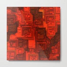 Luxury glowing red cubes Metal Print