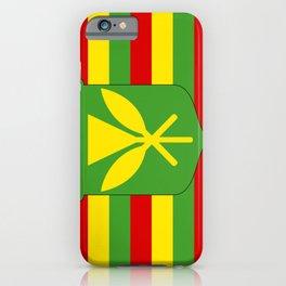 Kanaka Maoli Hawaii Flag iPhone Case