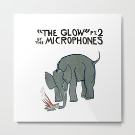 The Microphones - The Glow pt2 on White Metal Print