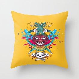 Demonio Azteca Throw Pillow