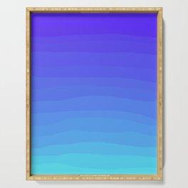 Cobalt Light Blue gradient Serving Tray