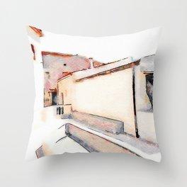 Tortora's buildings Throw Pillow