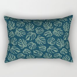 Monstera Deliciosa var. Sierrana Rare Tropical Houseplant Rectangular Pillow