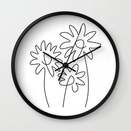 Abstract Flower Garden Wall Clock