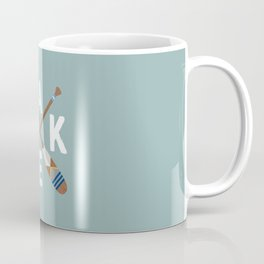 LAKE LIFE Painted Paddle Oars Coffee Mug