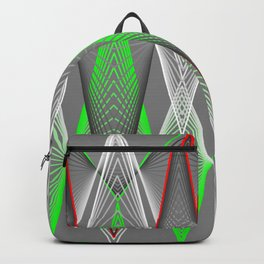 Graphic in red and green triangles Backpack