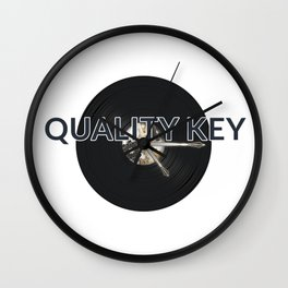 Quality Key: Vinyl Time Wall Clock