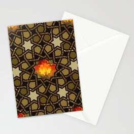 Flower of Fire Pussy Pattern Stationery Cards