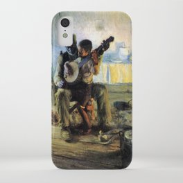 African American Masterpiece 'The Banjo Lesson' by Henry Ossawa Tanner iPhone Case