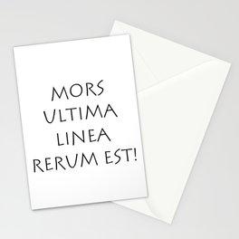 Mors ultima linea rerum est Stationery Cards