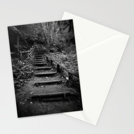 Surreal Magical Forest - Black and White Study  Stationery Cards