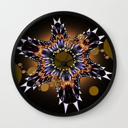 Rising star, modern fractal abstract Wall Clock