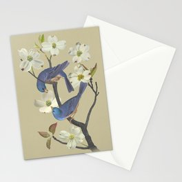 Bluebirds in Dogwood Tree Stationery Cards