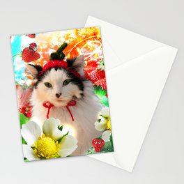 Strawberry Shortfluff Stationery Cards