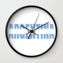 Argentinian Flag Vintage Argentina Country Gift Wall Clock
