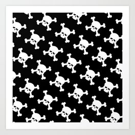 Skull Crossbones Symbol Art Print