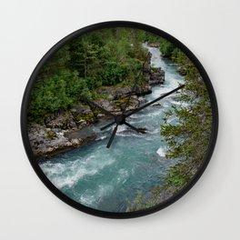 Alaska River Canyon - II Wall Clock