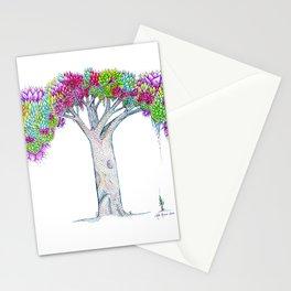 Rainbow Tree Huia Art Stationery Cards