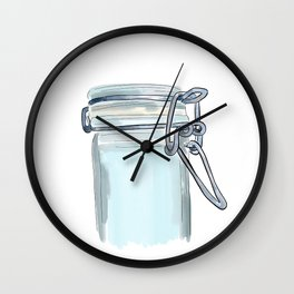Canister Clasp Wall Clock