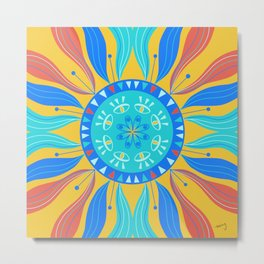 Mystic Eye Swirl Mandala Metal Print