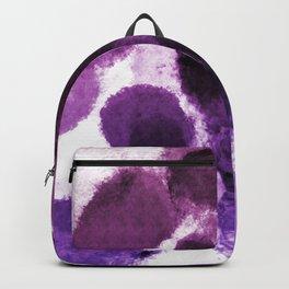 Artistic Purple Watercolor Spots Backpack