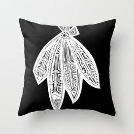 Inverted Chicago Blackhawks Throw Pillow